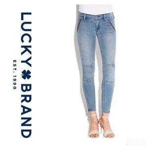 Lucky Brand Charlie Skinny Moto Jeans Size W25 L29